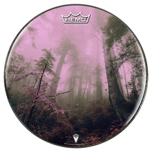 Enchanted Forest Remo made drum head by Visionary Drum