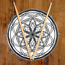 Ever Inward Design Remo-Made Graphic Drum Head on Snare Drum; mandala drum art