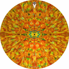 Extruded Groove design graphic drum head by Visionary Drum; abstract pattern drum art