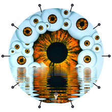 Eyeball design visionary drum bass face banner