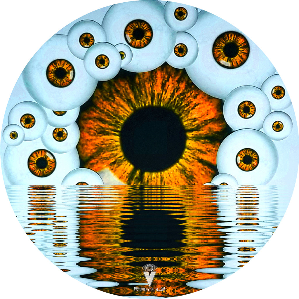 Eyeball design visionary drum skin