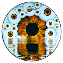 Eyeball design visionary drum remo made drum head