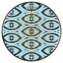 Eye Tribe Design Remo-Made Graphic Drum Head by Visionary Drum; abstract pattern drum art