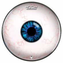 Eyeball Design Remo-Made Graphic Drum Head by Visionary Drum; human eye drum art