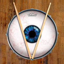 Eyeball Design Remo-Made Graphic Drum Head on Snare Drum
