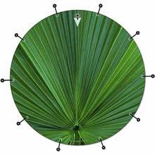 Fan Leaf bass face drum banner by Visionary Drum; green drum art
