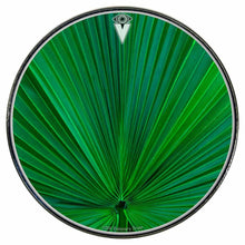 Fan Leaf graphic drum skin installed on bass drum head by Visionary Drum