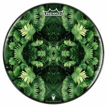Fern Form Design Remo-Made Graphic Drum Head by Visionary Drum; green drum art