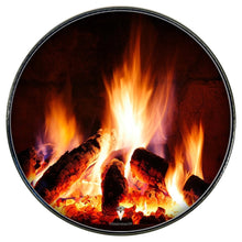Fireplace design Visionary head drum skin mounted to a Remo head