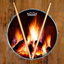 Fireplace Graphic Drum Head Art - All Styles and Sizes