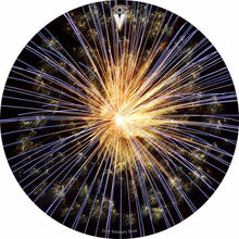 Fireworks design graphic drum skin by Visionary Drum; celebration drum art