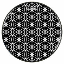 Flower of Life Design Remo-Made Graphic Drum Head by Visionary Drum; geometric drum art
