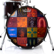 Germinator graphic drum head on bass drum.