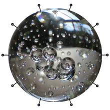 Glass bubbles bass face drum banner