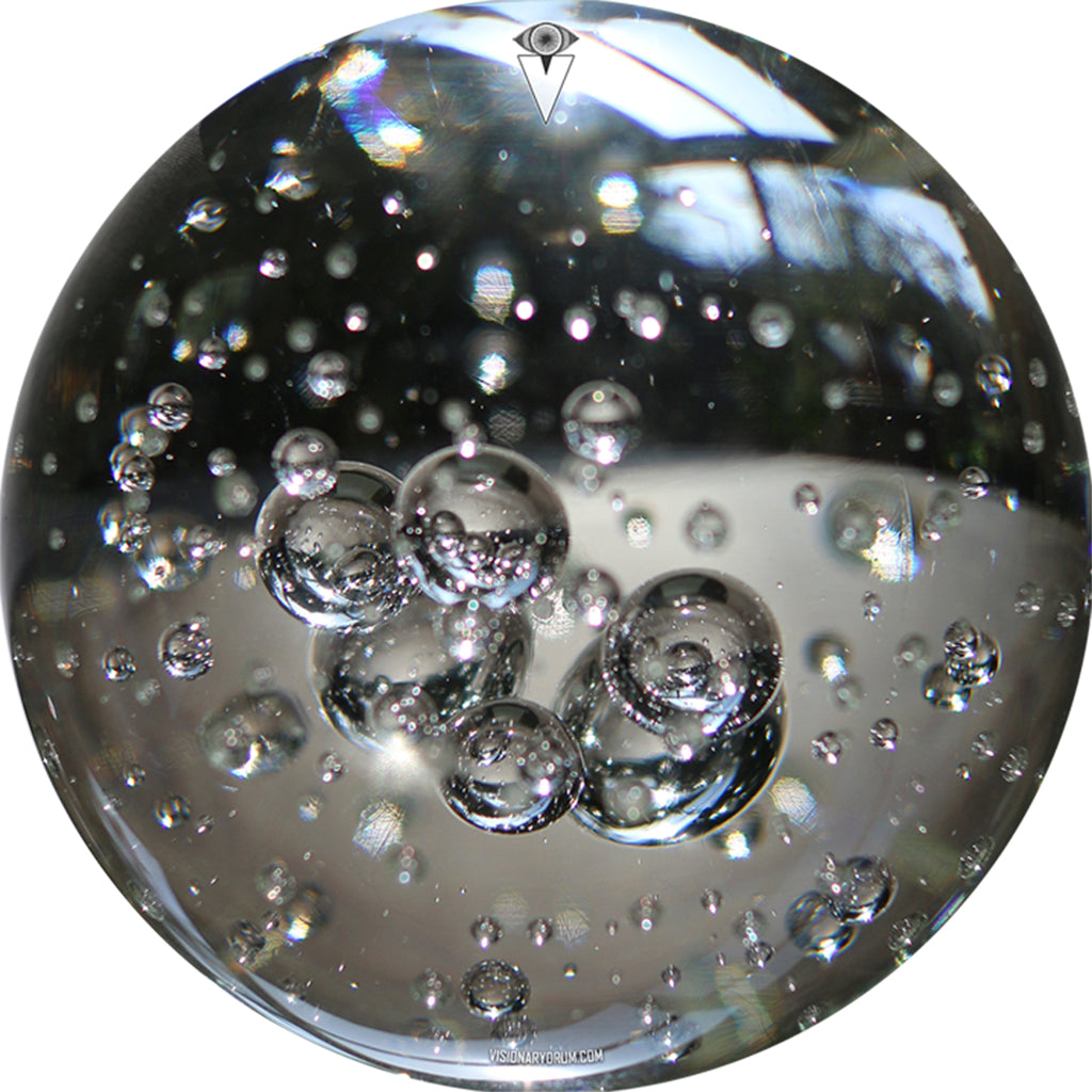 Glass bubbles drum skin by Visionary Drum