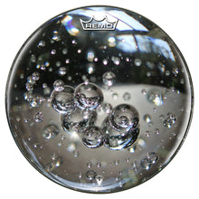 Glass bubbles drum head made by Remo