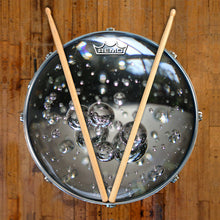 Glass bubbles drum head made by Remo on snare