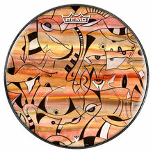 Glyph Design Remo-Made Graphic Drum Head by Visionary Drum; abstract drum art