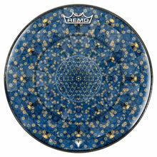 Gold Flower Portal Design Remo-Made Graphic Drum Head by Visionary Drum; abstract nature drum art