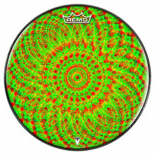 Green Living Design Remo-Made Graphic Drum Head by Visionary Drum; geometric drum art