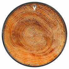 Tree growth rings graphic drum skin installed on head