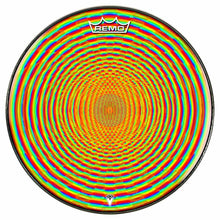 Here We Grow Again Design Remo-Made Graphic Drum Head by Visionary Drum; psychedelic drum art