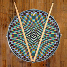 Holotropic geometric design graphic drum skin on snare