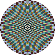 Holotropic geometric design graphic drum skin