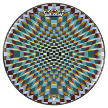 Holotropic geometric design graphic drum head by Visionary Drum