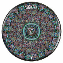 Hummingbird Design Remo-Made Graphic Drum Head by Visionary Drum; abstract drum art