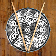 In the Eddies Design Remo-Made Graphic Drum Head on Snare Drum; mandala drum art