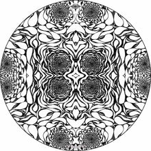 In the Eddies design graphic drum skin by Visionary Drum; black and white drum art
