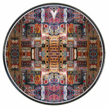In the Portal graphic drum skin installed on bass drum head; visionary drum art