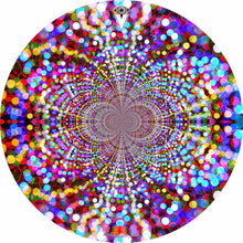 Infinite Dots design graphic drum skin by Visionary Drum; psychedelic drum art