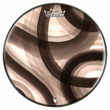 Inkwash Lanes Design Remo-Made Graphic Drum Head by Visionary Drum; black and white drum art
