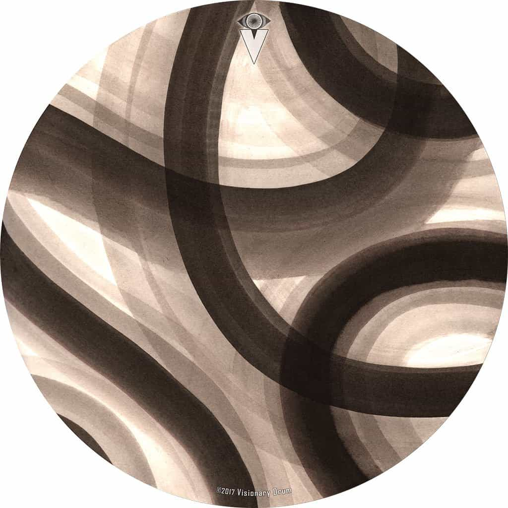 Inkwash Lanes design graphic drum skin by Infinity Arts; abstract drum art