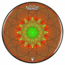 Innerstar Design Remo-Made Graphic Drum Head by Visionary Drum; geometric drum art