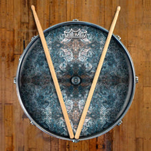 Jupiter Cloud Design Remo-Made Graphic Drum Head on Snare Drum; mandala drum art