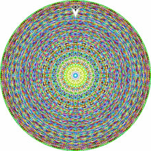 Kaleidoscopic design graphic drum skin by Visionary Drum; psychedelic drum art