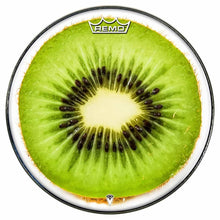 Kiwi Design Remo-Made Graphic Drum Head by Visionary Drum; fruit drum art