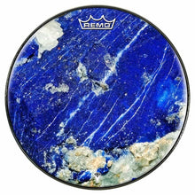 Lapis Lazuli Design Remo-Made Graphic Drum Head by Visionary Drum; blue drum art