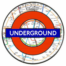 London Underground Design Remo-Made Graphic Drum Head by Visionary Drum; U.K. drum art