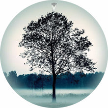Lone Tree design graphic drum skin by Visionary Drum; nature drum art