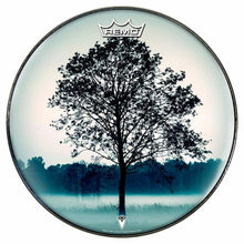 Lone Tree Design Remo-Made Graphic Drum Head by Visionary Drum; nature lover drum art