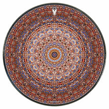 Kaleidoscopic mandala graphic drum skin on drum head