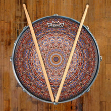 Kaleidoscopic mandala Remo graphic drum head on snare