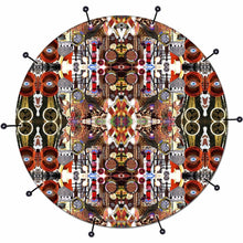 Majestic bass face drum banner by Visionary Drum; mandala drum art