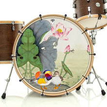 Mandarin Ducks Graphic Drum Head Art - All Styles and Sizes - Art by Sally Nissen