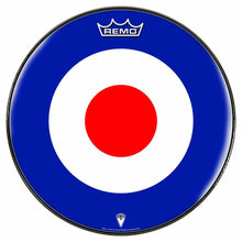 Mod Target Design Remo-Made Graphic Drum Head by Visionary Drum; bullseye drum art