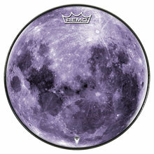 Purple Moon Design Remo-Made Graphic Drum Head by Visionary Drum; full moon drum art